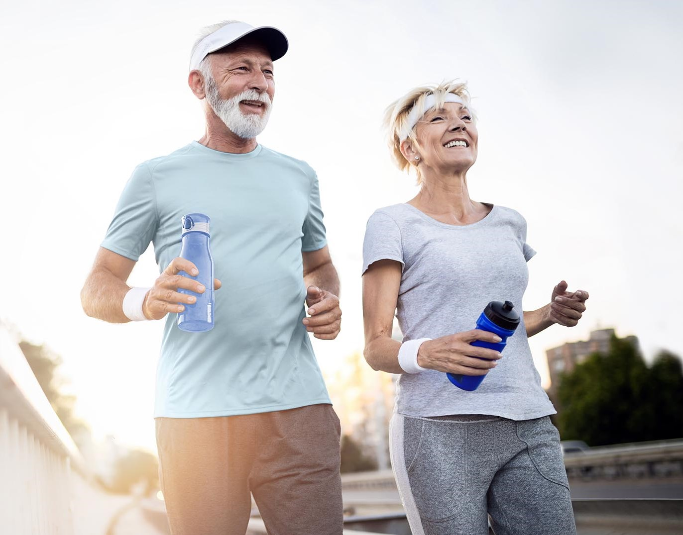 Healthy agers jogging