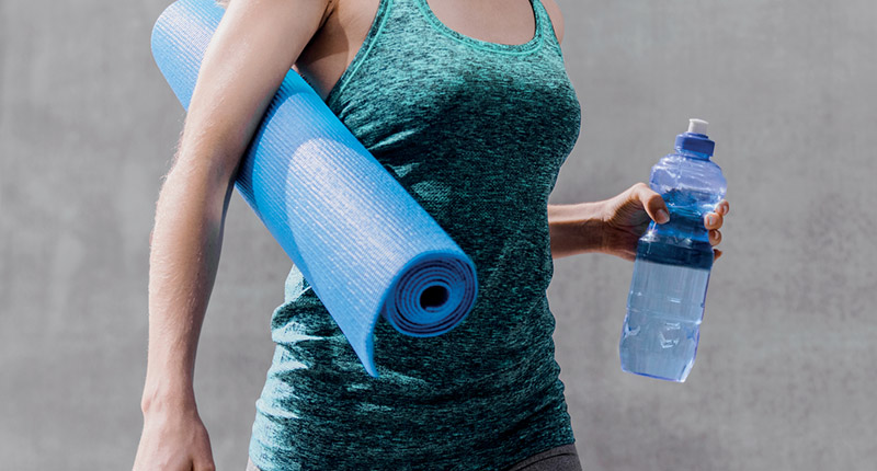 Yoga with protein water